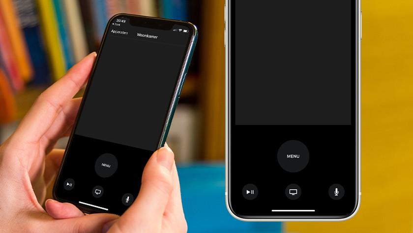 Gebruik je iPhone of iPad als afstandsbediening voor Apple TV.