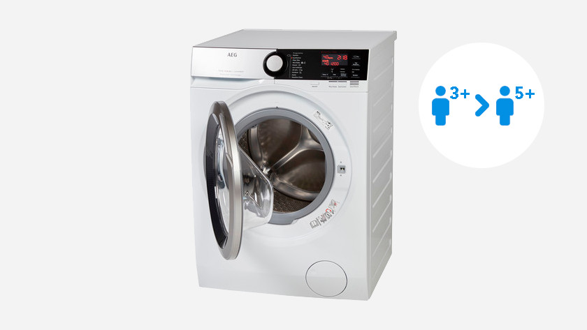 Washing machine with 8 or 10kg load capacity
