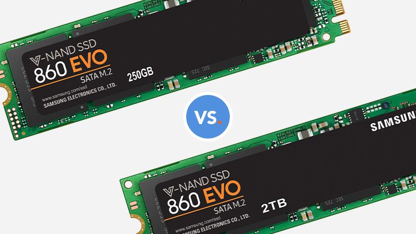 250GB SSD or 2TB SSD