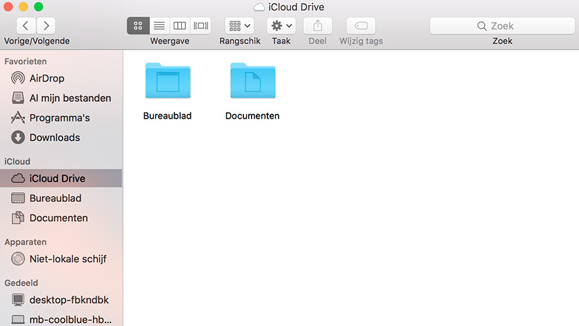 Drag files to iCloud Drive