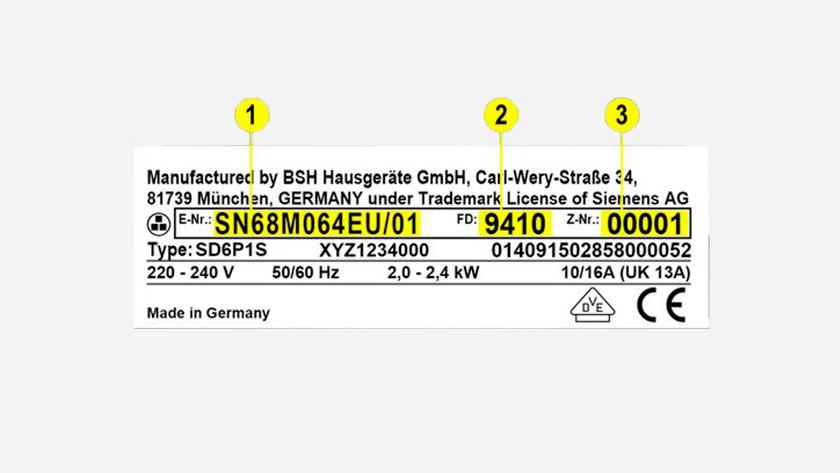Type plaatje van een Siemens product