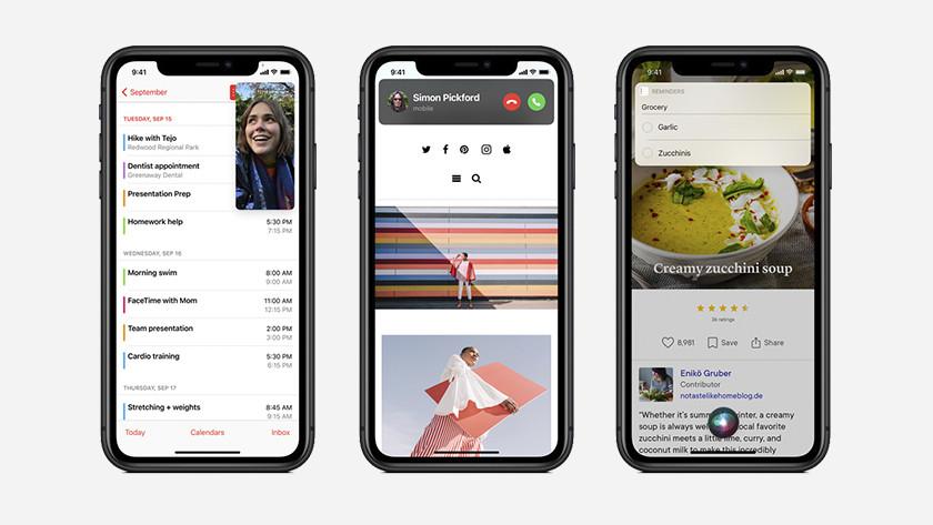 Compacte functies iPhone