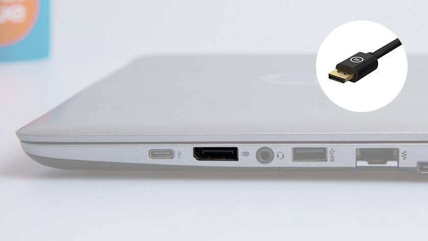 DisplayPort aansluiting op een laptop