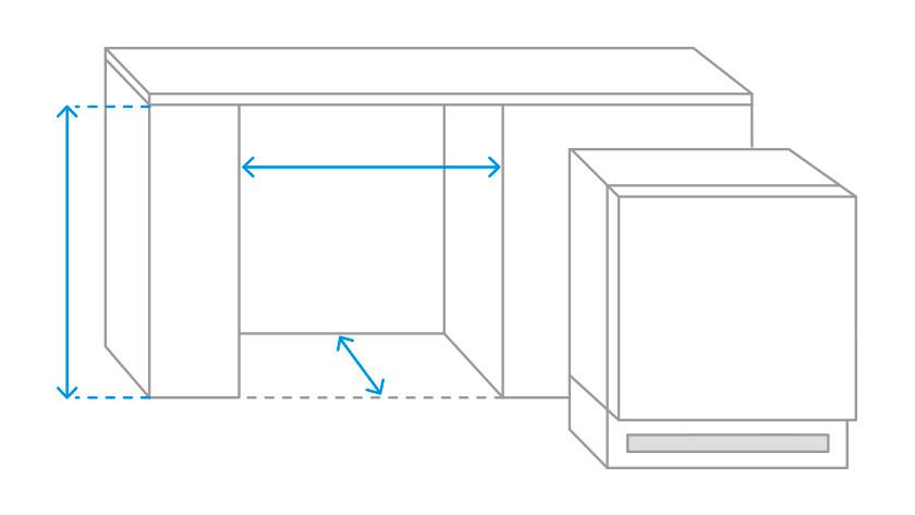 Belangrijke afmetingen voor een onderbouw koelkast