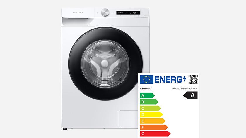 Samsung wasmachine energielabel