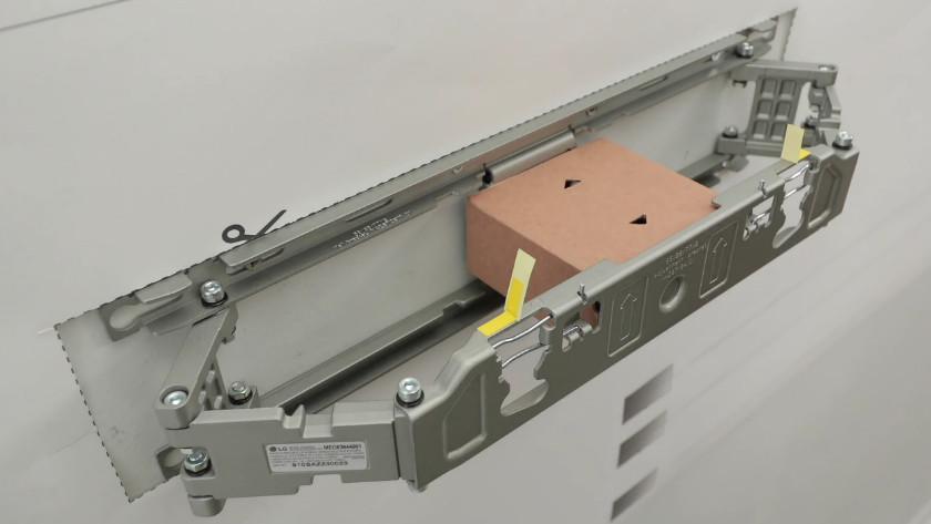 Cardboard box in the wall mount