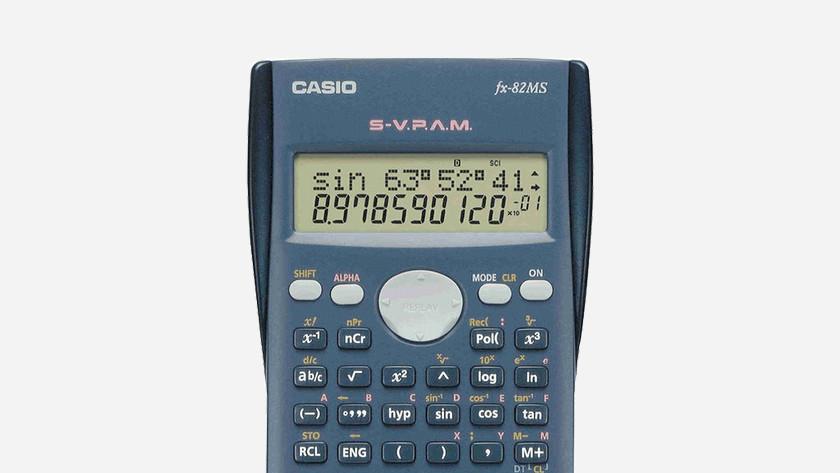 schermregels rekenmachine