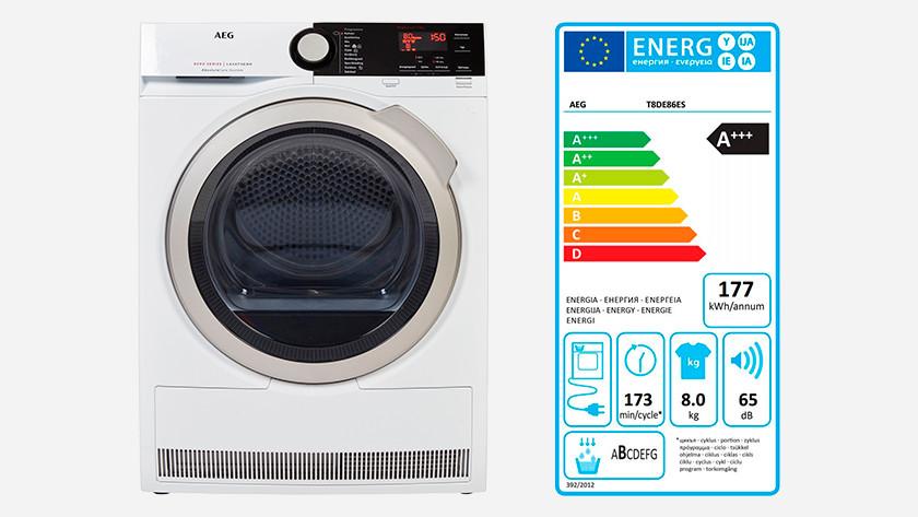 Heat pump dryer energy label