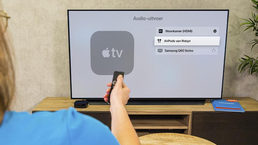 Selecteer je AirPods of speaker en geniet in alle rust van jouw favoriete film.
