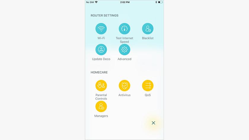 Overige opties in de Deco app
