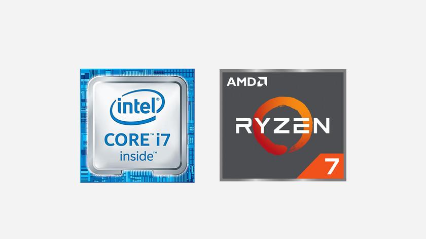 Intel Processor i7 icoon en AMD Ryzen 7 icoon