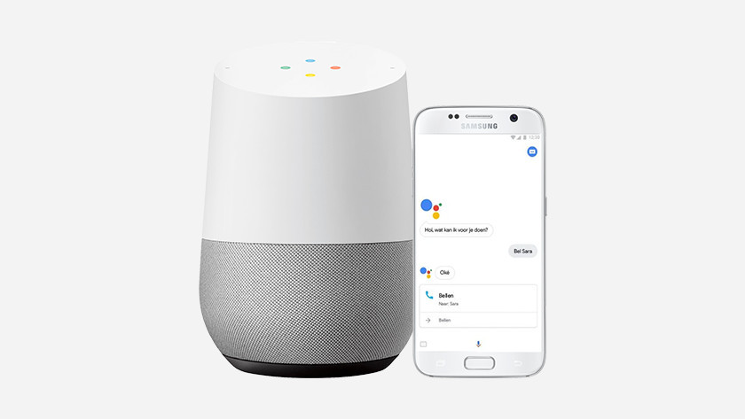 Google Assistant in use