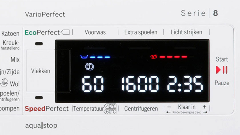 Display Bosch wasmachine