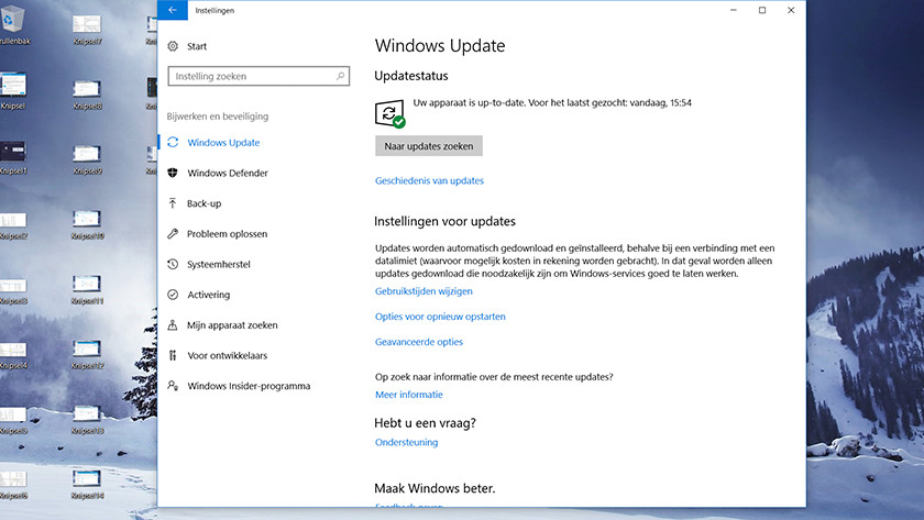Windows Update zoeken.