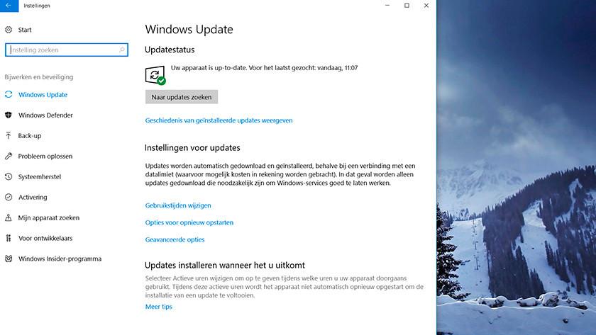 Windows updates installeren.