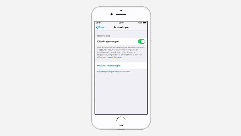 iOS update iCloud reservekopie
