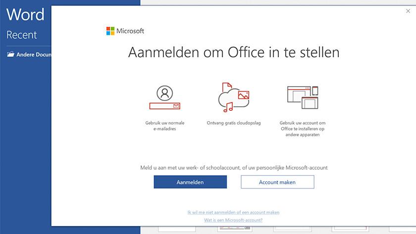 Office login screen