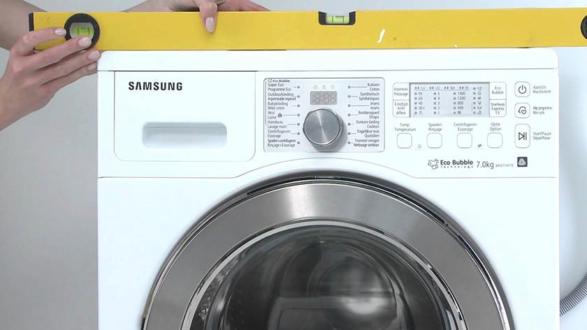 Level the washing machine