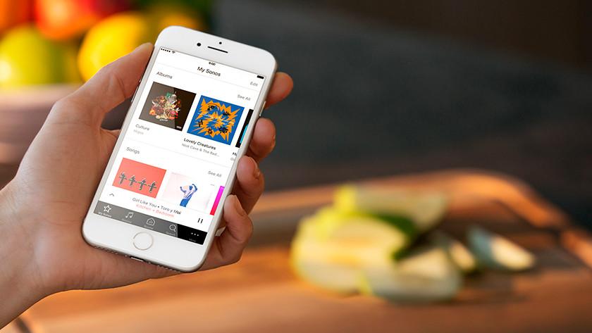 Sonos app voor Apple