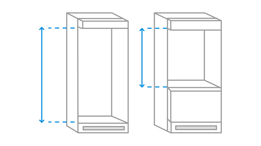 Refrigerator replacement IKEA cabinet