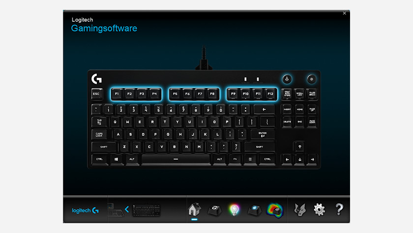 Your product in the logitech menu