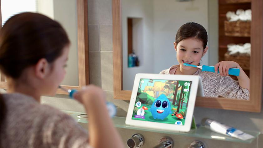 Tandenborstel met Sparkly app