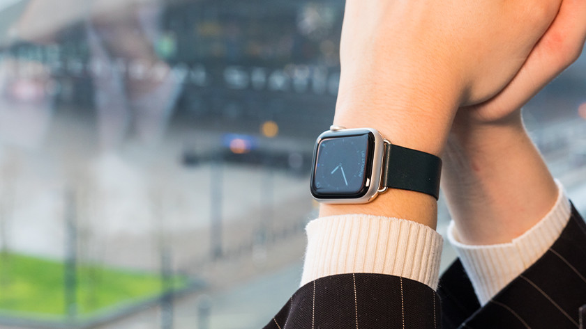 Apple Watch Modern Leren horlogeband
