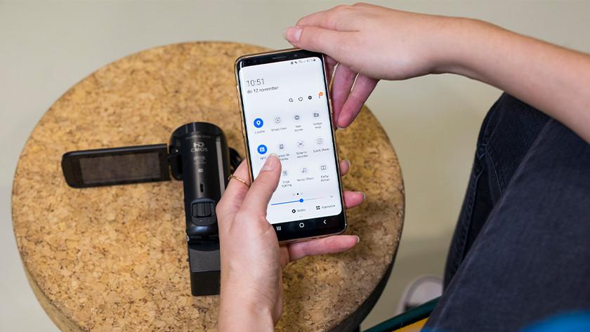 Verbinden via Wifi of NFC