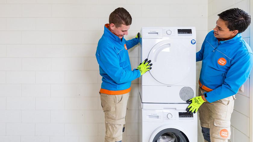 Wasmachine en drogerset aansluitservice