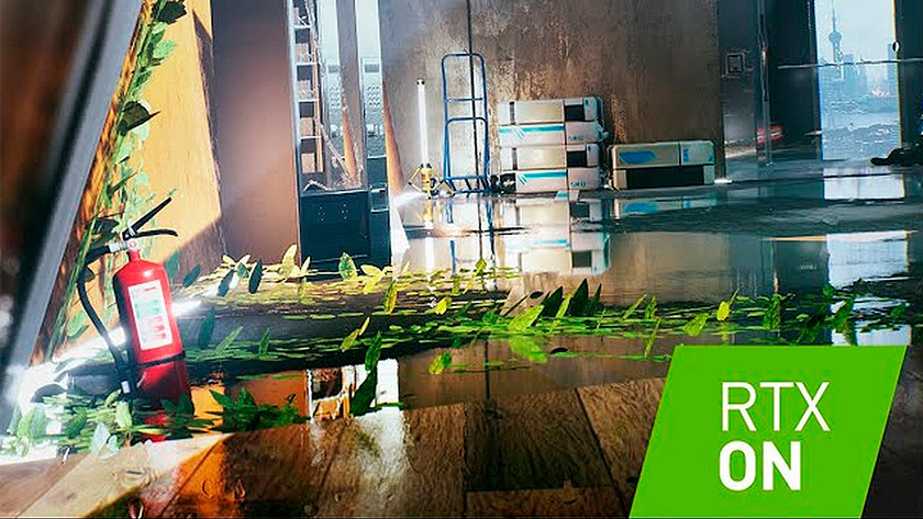 RTX ray tracing effect aan.