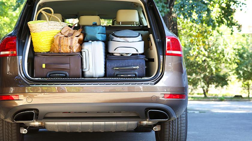 Zachte koffers in auto