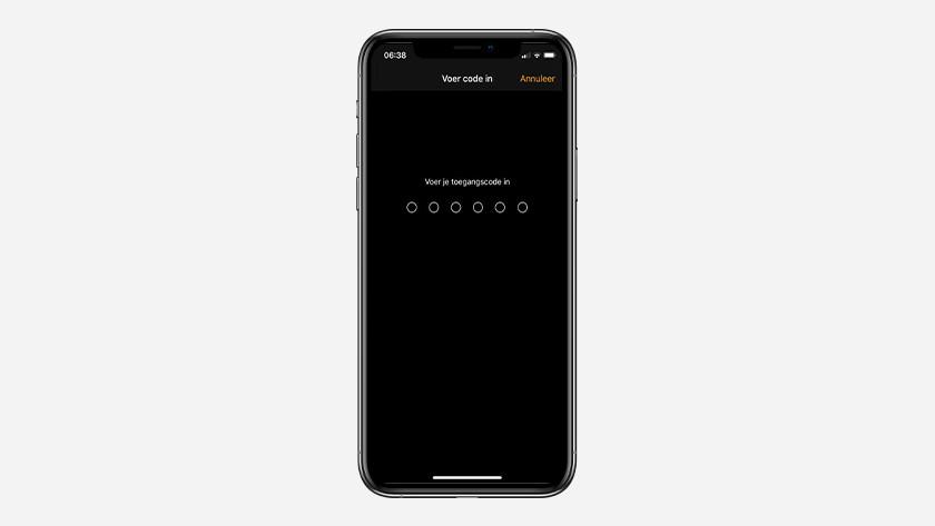 Voer je toegangscode van iPhone in