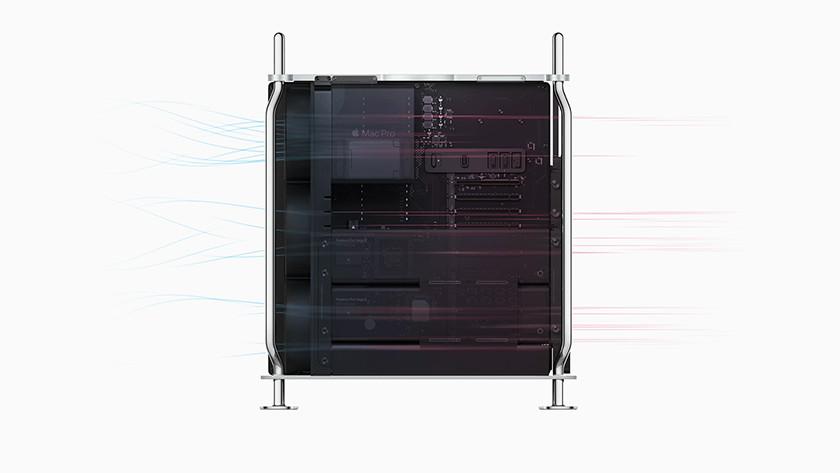 Binnenkant Apple Mac Pro 2019
