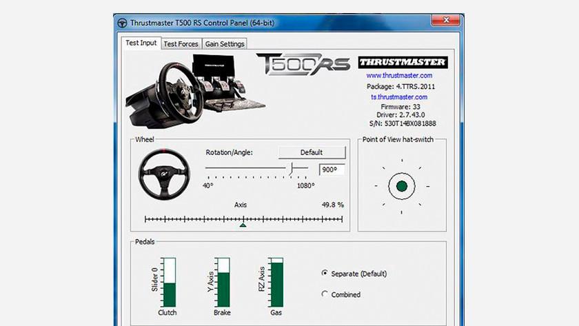 Thrustmaster software kalibreren