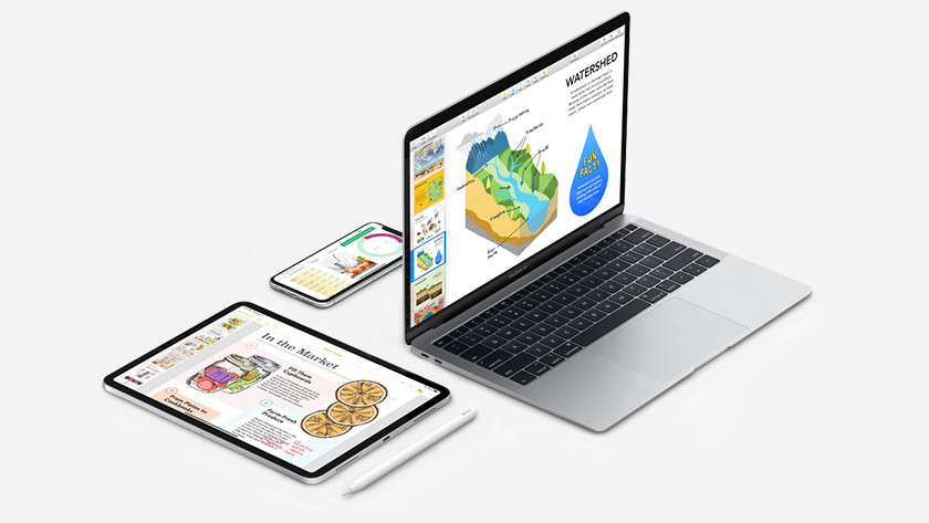 Apple iWork op MacBook, iPhone en iPad