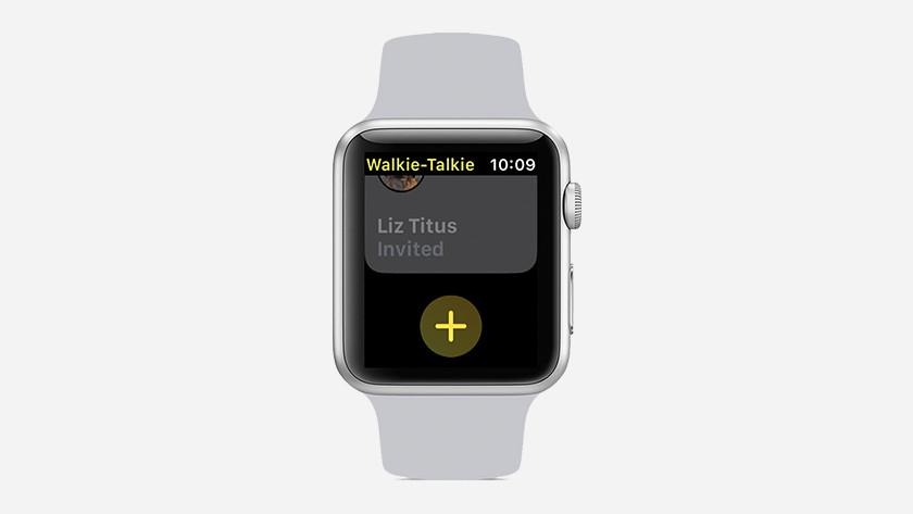 Vriend toevoegen in de walkie talkie app