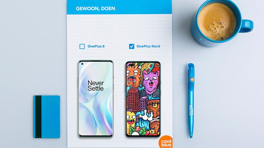 Scherm OnePlus Nord vs OnePlus 8