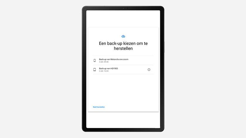 Samsung tablet installatie