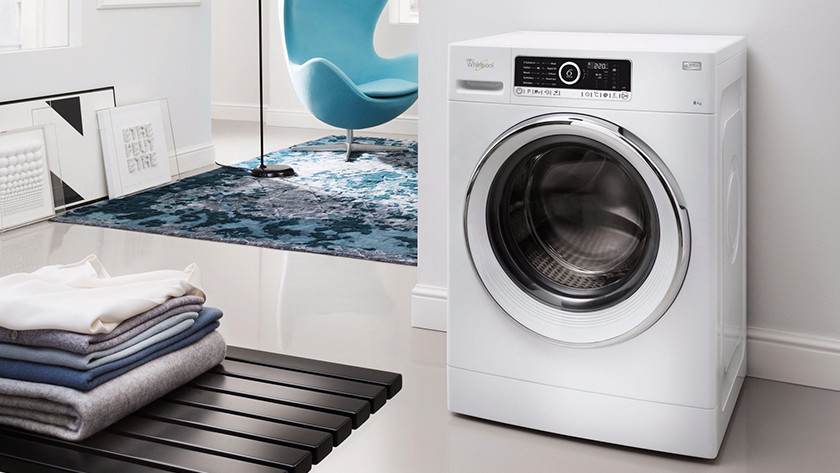 Washing machine in living room