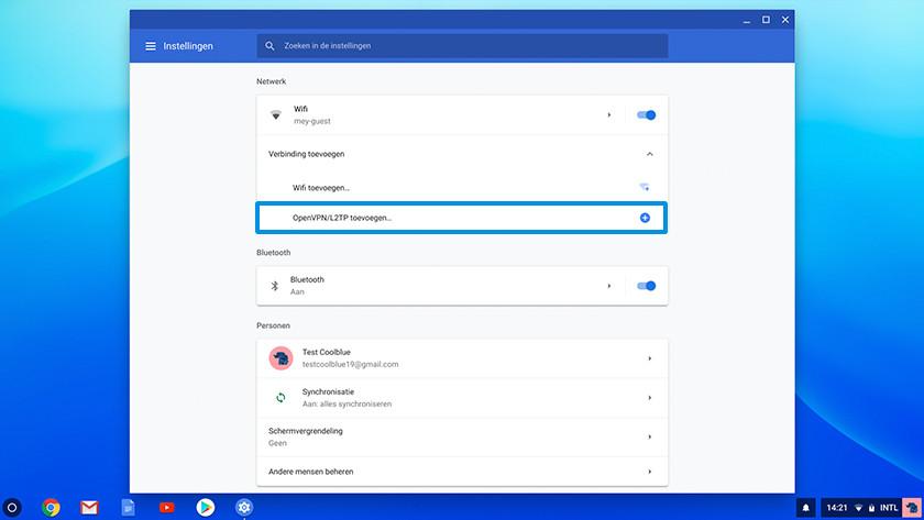 OpenVPN/L2TP toevoegen op Chrome OS.