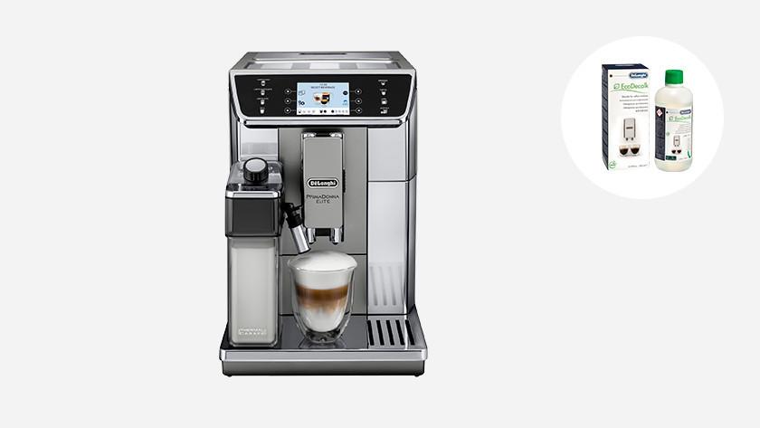 Delonghi koffiemachine ontkalken om kalkaanslag te verwijderen