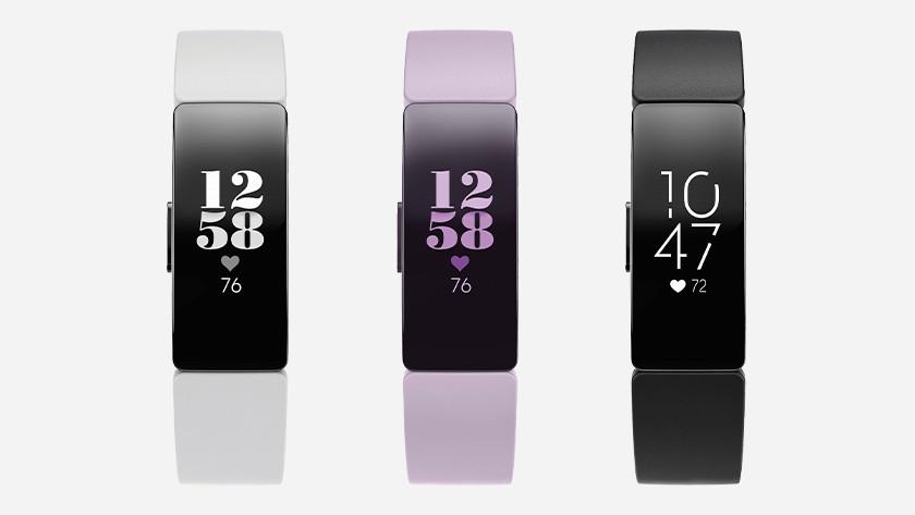 Fitbit Inspire HR kleuren fysieke knop