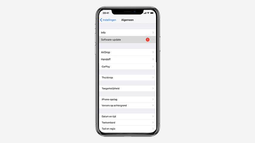 iOS update draadloos bijwerken