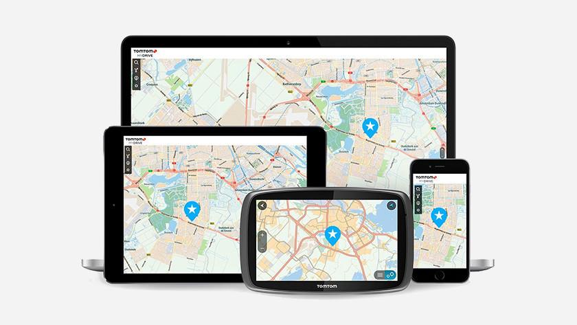 TomTom MyDrive app op laptop , tablet, smartphone en navigatieststeem