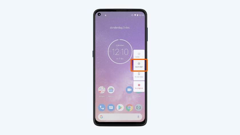 Motorola smartphone opnieuw opstarten