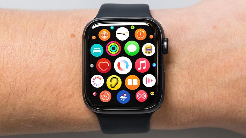 Open de Saturatie app op je Apple Watch.