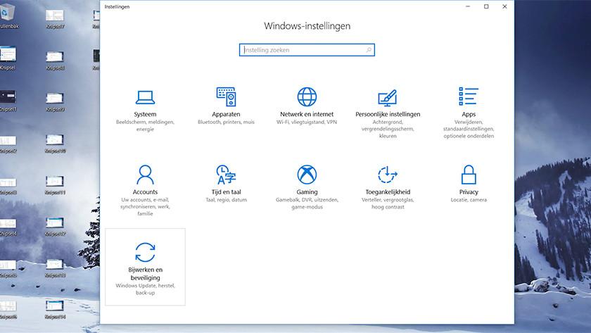 Open settings on a Windows 10 laptop.
