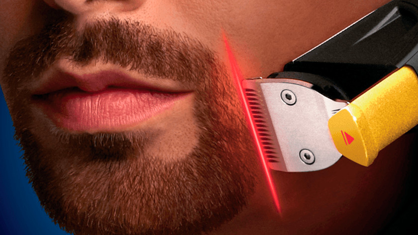 Philips beard trimmer with laser guide