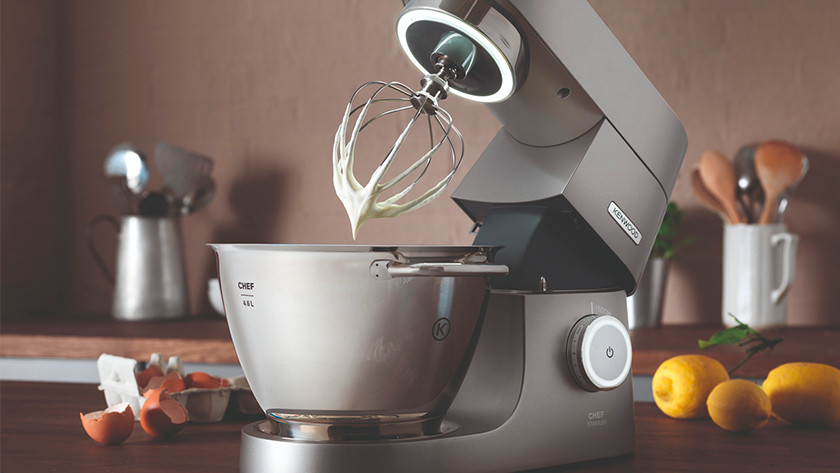 Gray Kenwood stand mixer