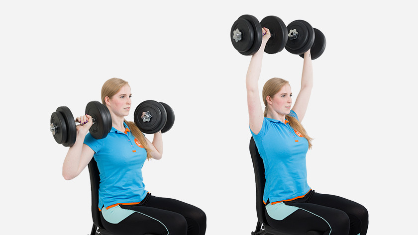 Explanation of shoulder press dumbbells